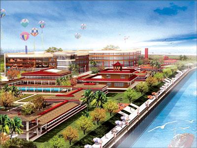 会馆营业面积约25,000平方米.以东南亚巴厘岛风格为特色.